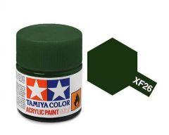 Tamiya Acrylic Flat Paint (10ml) - Deep Green