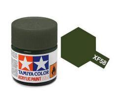 Tamiya Acrylic Flat Paint (10ml) - Olive Green