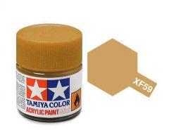 Tamiya Acrylic Flat Paint (10ml) - Desert Yellow