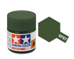 Tamiya Acrylic Flat Paint (10ml) - Nato Green