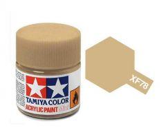 Tamiya Acrylic Flat Paint (10ml) - Wooden Deck Tan