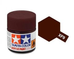 Tamiya Acrylic Flat Paint (10ml) - Hull Red