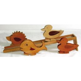 Wooden Mechanical Walking Figures