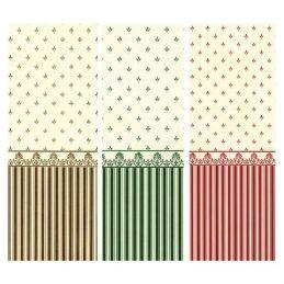 1:12th Scale Grosvenor Dolls House Wallpaper - Grosvenor Red