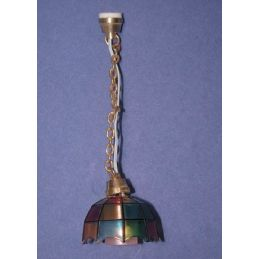 12th Scale Dolls House Tiffany Ceiling Lamp