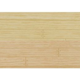1/12th Scale Dolls House Wood Floor Wallpaper