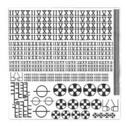 Roman Numerals and Various Ship Marking Symbols