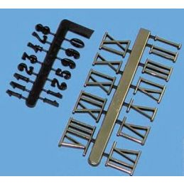 Stick On Plastic Numeral Set- 10mm (gold, Roman)