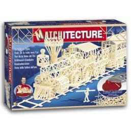 Matchitecture Gold Rush Train Matchstick Kit
