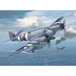Revell Bristol Beaufighter Plastic Model Aircraft Kit - Vallejo Starter Pack Pack (6)