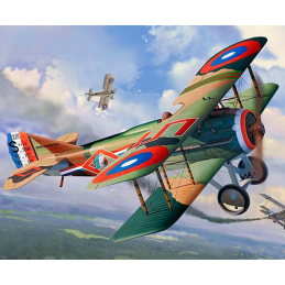 Revell WWI Fighter SPAD XIII 1:28 Scale Plastic Model Plane Kit - Starter Paint Pack 6 X 17ml