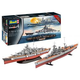 Revell HMS Hood VS HMS Bismarck 80th Anniversary Set