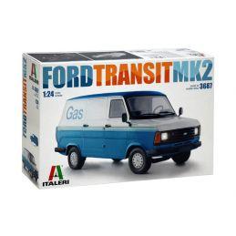 Italeri Ford Transit MK2 1:24 Scale Model Van Kit - Starter Paint Pack 6 x 17ml Pots