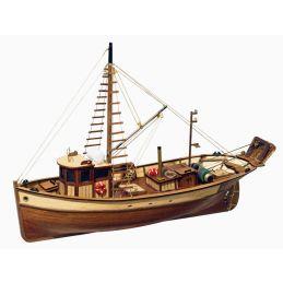 Occre Palamos Fishing Boat Model Boat Display Kit