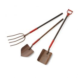 Traditional Garden Tools x 3
