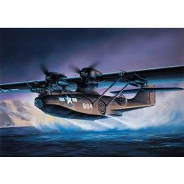Academy 1/72 Scale PBY-5A Black Catalina Plastic Model Kit