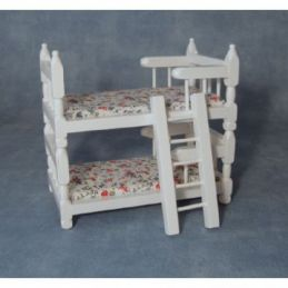 1:12 Scale White Bunk Beds