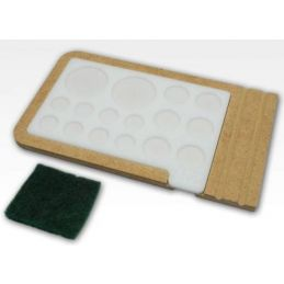 Hobbyzone Acrylic Painting Palette with Base and Cleaning Pad