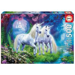 Unicorns In The Forest 500 Piece Jigsaw