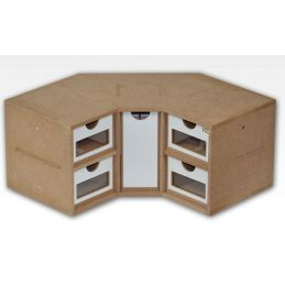 Hobbyzone Corner Drawers Module Crafts Workshop Modular System