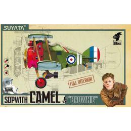 """Sopwith Camel & """"Brownie"""" Plastic Model Kit"""