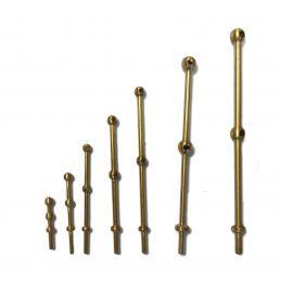 Caldercraft 2 Hole Brass Stanchions - 25mm 2 Hole Stanchions
