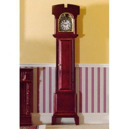 Mahogany Grandfather Clock Non-Working 1 12 Scale for Dolls House