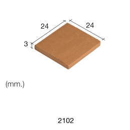Aedes Ars Red Tile 24 x 24 x 3 (Pack of 25 Tiles)