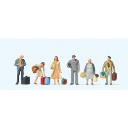 Waiting Passengers (6) British OO Scale Figure Set