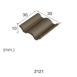 Aedes Ars Flemmish Black Roof Tile 30 x 30 x 10 (Pack of 25 Tiles)
