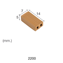 Aedes Ars Red Brick 7 x 14 x 5 (Pack of 150 Bricks)