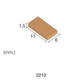 Aedes Ars Small Red Tile 6 x 11 x 1.5 (Pack of 300 Tiles)