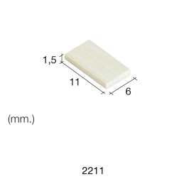 Aedes Ars Small Mottled Tile 6 x 11 x 1.5 (Pack of 300 Tiles)