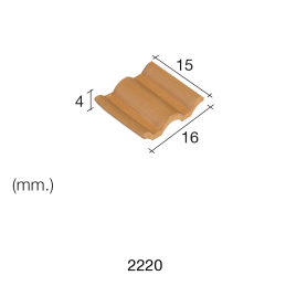 Aedes Ars Flemmish Red Roof Tile 15 x 16 x 4 (Pack of 150 Bricks)