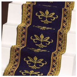 Navy With Gold Detailing Stair Carpet