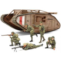 Tamiya WW1 British Tank Male Mk.IV Motorised Version With Troops