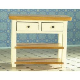Cream Shaker Style Table 1 12 Scale for Dolls House