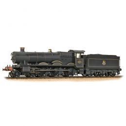 Hall Class 4971 Stanway Hall BR Black E/Emblem - Weathered