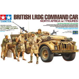 Tamiya British LRDG Command Car North Africa with 7 Figures 1:35 Scale Detailed Plastic Model Kit