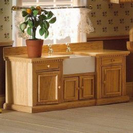 Smallbone sink unit with Belfast sink