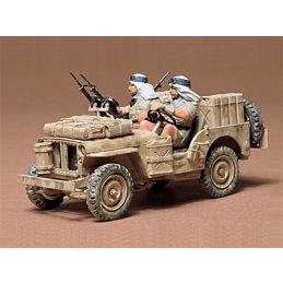 Tamiya British SAS Jeep 1:35 Scale Plastic Model Kit with Figures