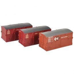 Branchline BD Large Containers Bauxite & Crimson (x3)