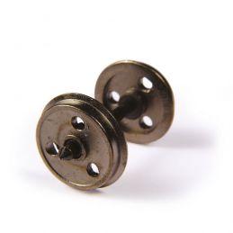 Branchline  Metal 3-Hole Disc Wagon Wheels (x10) 36-015