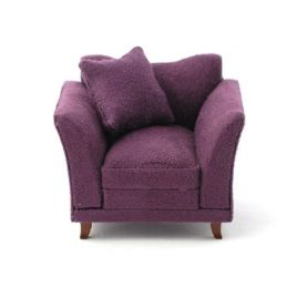 Soft Plum Armchair