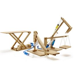 Pathfinders 4 in 1 Multipack Hydraulic Mini Machines Educational Wooden Kits