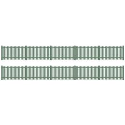 Peco Picket fencing green (straight only)