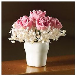 Pink Rose Arrangement in Vase