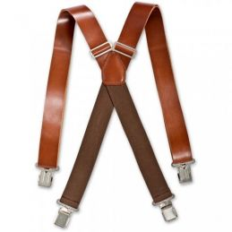 Brimarc Dark Brown Heavy Duty Leather Braces
