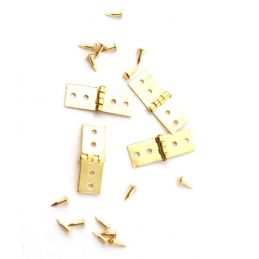 4 Brass Hinges With Pins