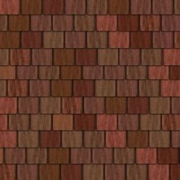 Red Roof Tiles Quality Exterior Paper 430 x 950mm for 1:12 Scale Dolls House